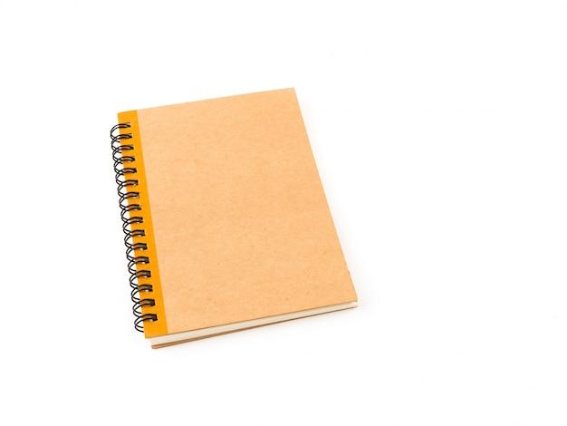 Closeup de caderno de capa marrom