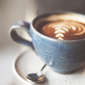 Closeup de café quente