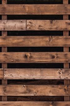 Closeup de cercas de prancha de madeira