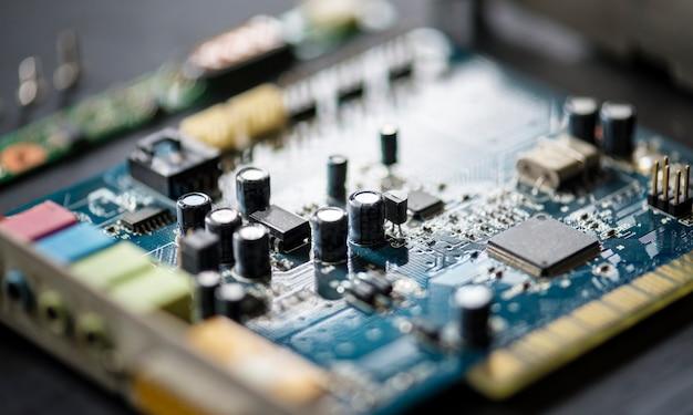 Closeup, de, computador, motherboard