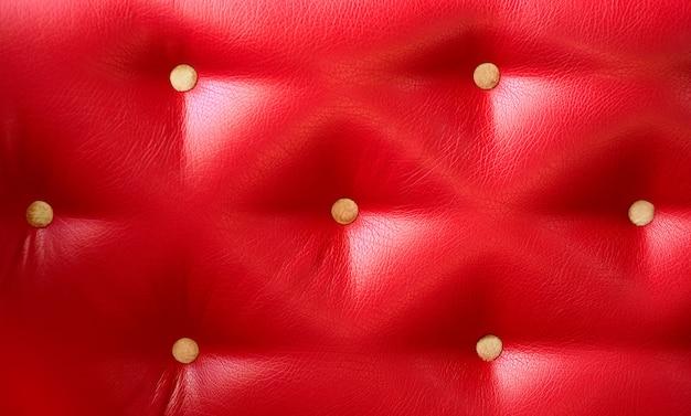 Closeup de couro acolchoado textura-vermelho