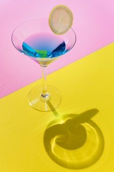 Closeup, de, decorado, coquetel, verão, bebida