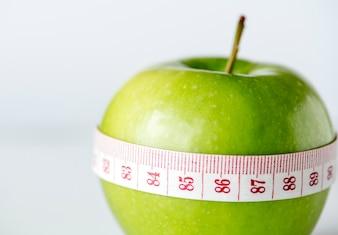 Closeup, de, dieta saudável, e, peso, perda, conceito