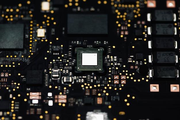 Closeup de elementos do computador