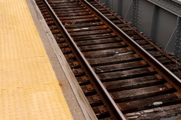 Closeup de ferrovias
