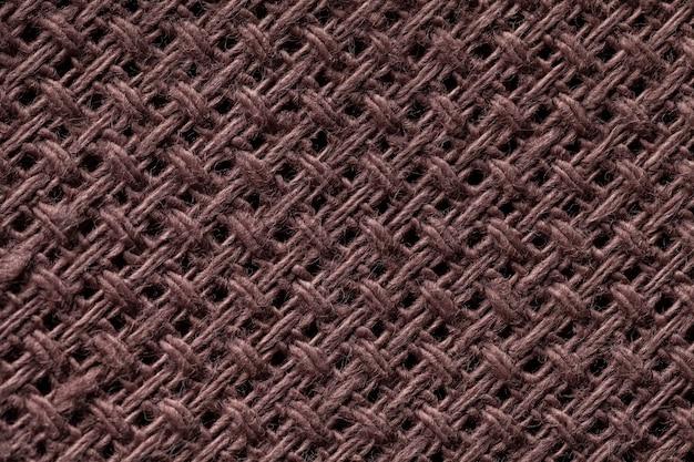 Closeup de fundo marrom têxtil