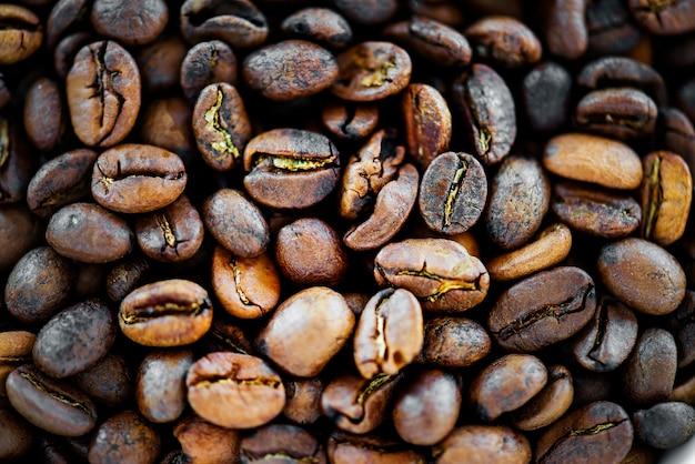 Closeup, de, grão café