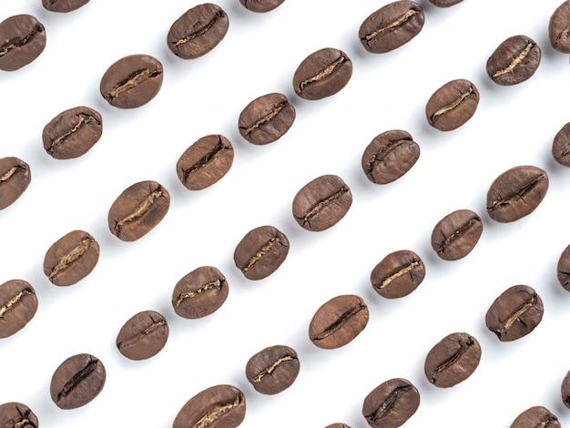 Closeup de grãos de café