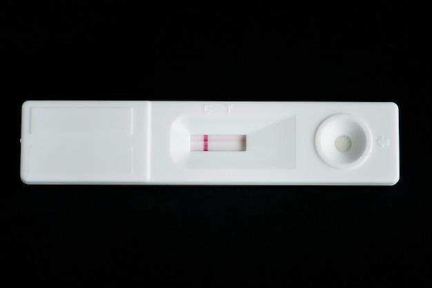 Closeup, de, grávida, teste