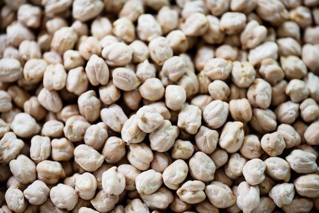 Closeup de leguminosas de grão de bico