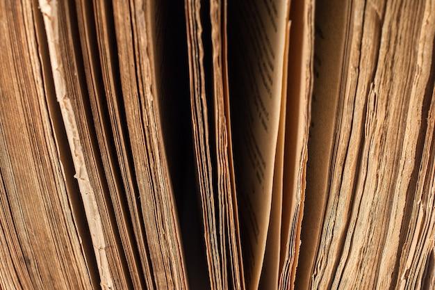 Closeup de livro muito antigo