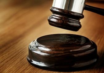 Closeup, de, martelo, julgamento, conceito