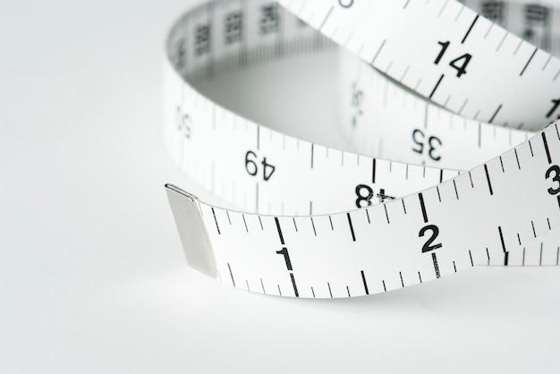 Closeup, de, medindo fita