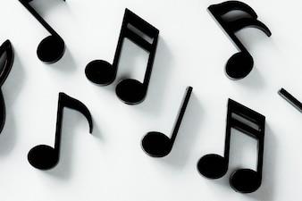 Closeup, de, nota música