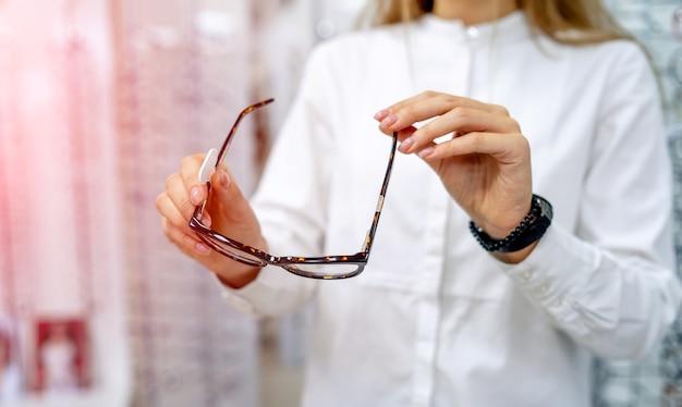 Closeup de óculos.