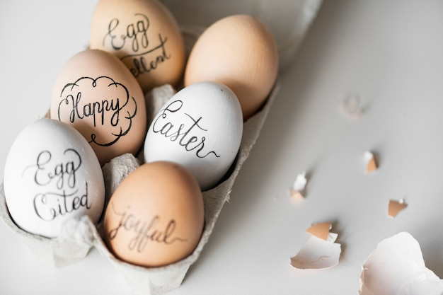 Closeup, de, ovos páscoa