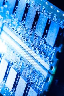 Closeup de peças de computador