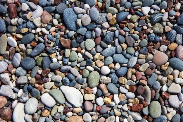 Closeup de pedras da praia