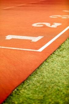Closeup de pista de atletismo
