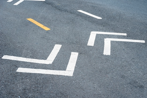 Closeup de placas de rua