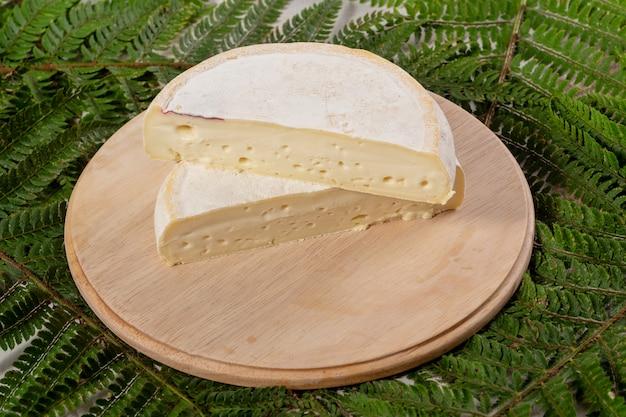 Closeup, de, queijo francês, reblochon