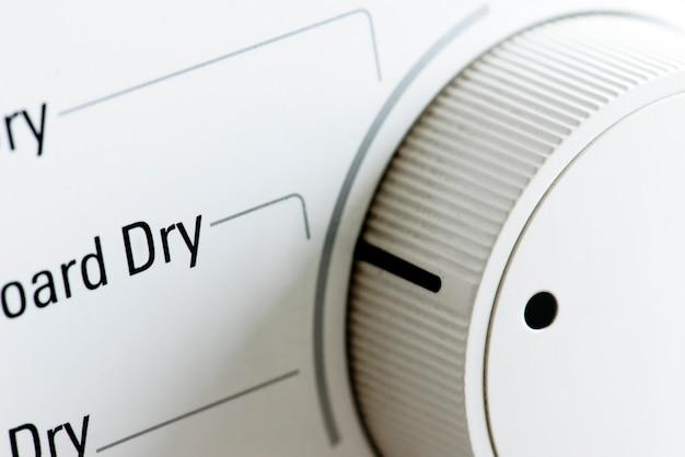 Closeup de secadora de roupas