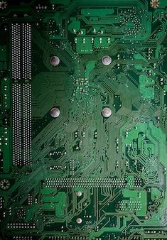 Closeup, de, servidor, mainboard, computador