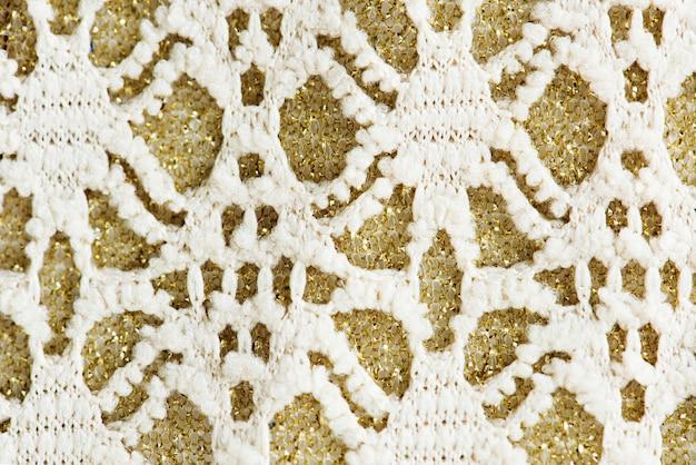 Closeup de tecido branco
