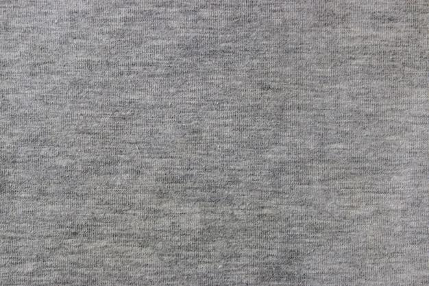 Closeup de tecido de malha cinza