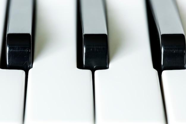Closeup, de, teclado piano