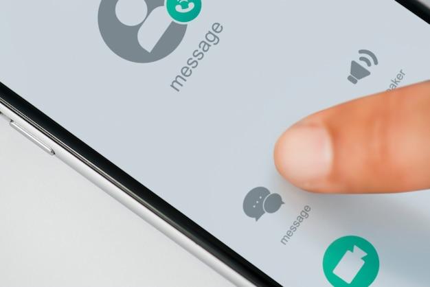 Closeup, de, telefone móvel
