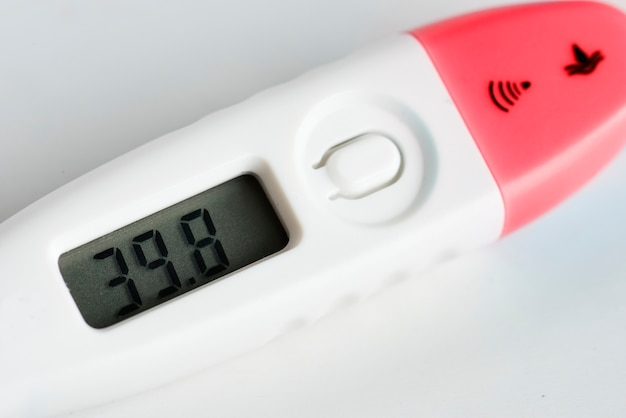 Closeup, de, termômetro digital