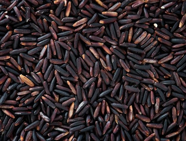 Closeup de textura de arroz preto