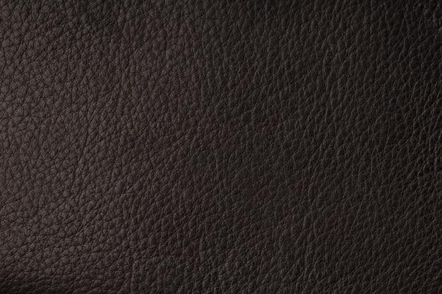 Closeup de textura de couro preto sem costura