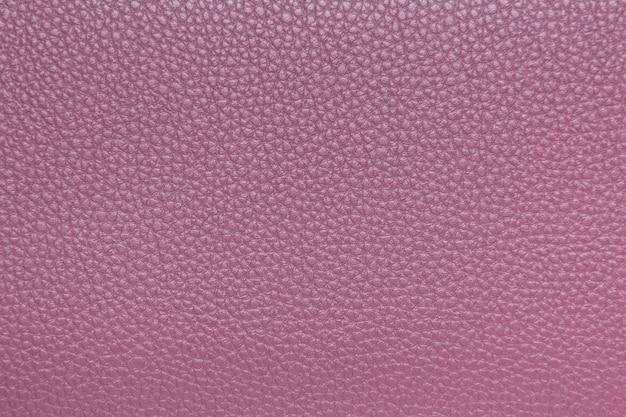 Closeup de textura de couro rosa para plano de fundo