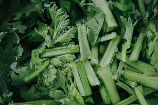 Closeup de vegetais verdes