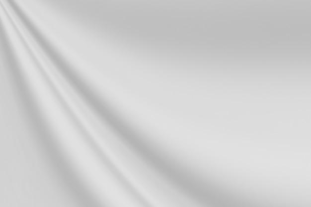 Closeup elegante amassado de fundo e textura de pano de tecido de seda branco. design de fundo de luxo.