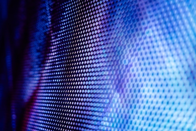 Closeup led tela borrada. fundo de foco suave led. fundo abstrato