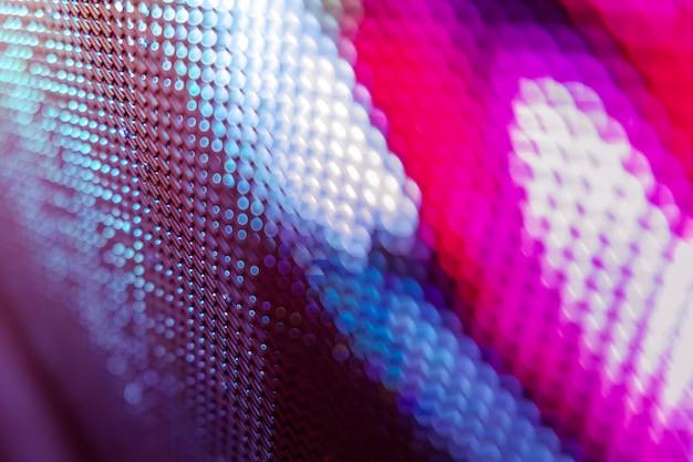 Closeup led tela borrada. fundo de foco suave led.