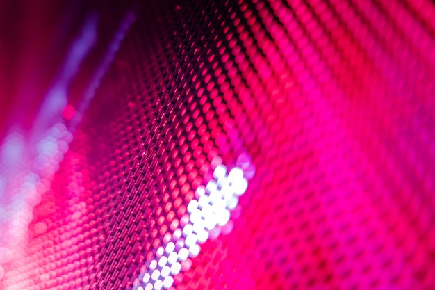 Closeup led tela borrada. fundo de foco suave led