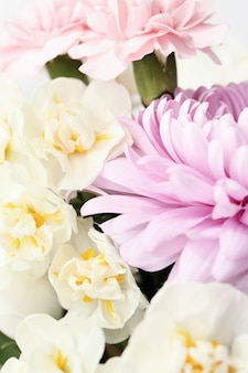 Closeup lindo buquê de flores