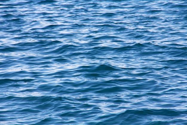 Closeup, pacata, mar