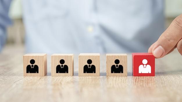 Closeup pessoas ícones conceitos recursos humanos