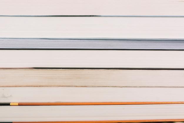 Closeup, pilha livros