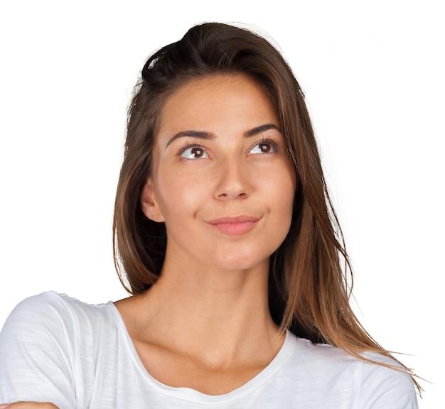 Closeup retrato do retrato casual jovem