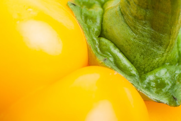 Closeup saudável pimenta amarela textura saudável