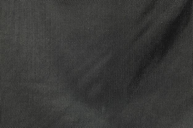 Closeup tecido no fundo do saco preto