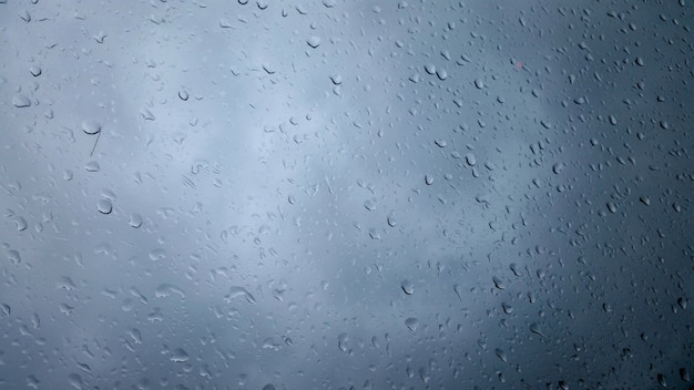 Closeup tiro de gotas de chuva em um copo