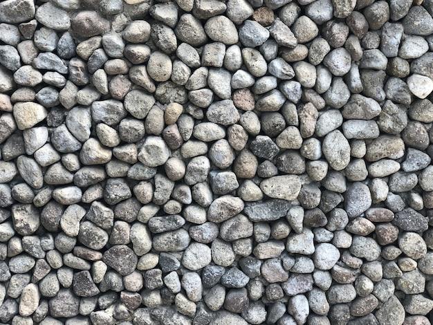 Closeup tiro de pedras cinzentas redondas