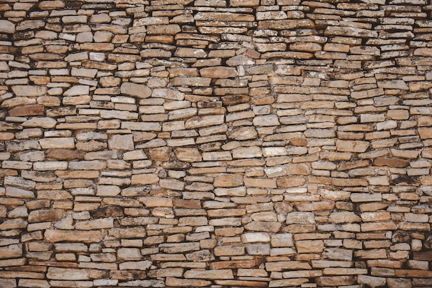 Closeup tiro de uma parede de pedra
